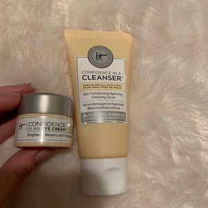 It cosmetics cleanser and eye cream